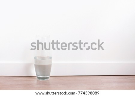 An Empty Glass Vase With Water At White Walls Ez Canvas