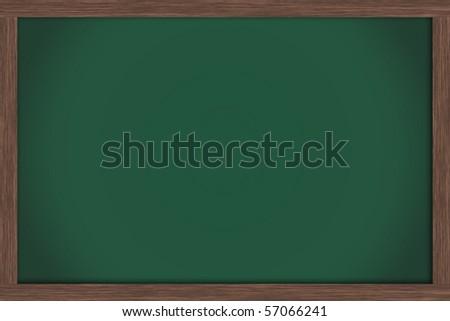 An empty green chalkboard , School Days