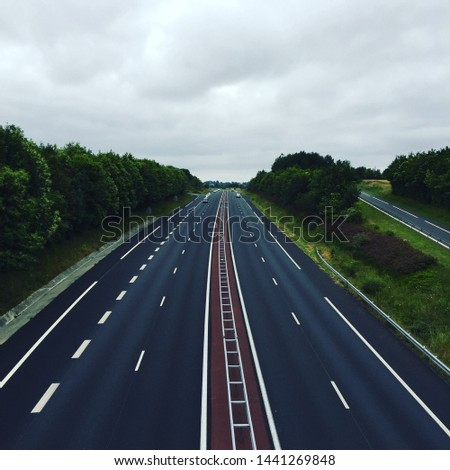 An empty motorway in France #1441269848