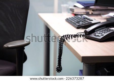 an empty office space in a business