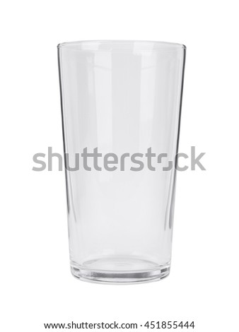 An empty pint glass isolated on a white background Stock photo ©