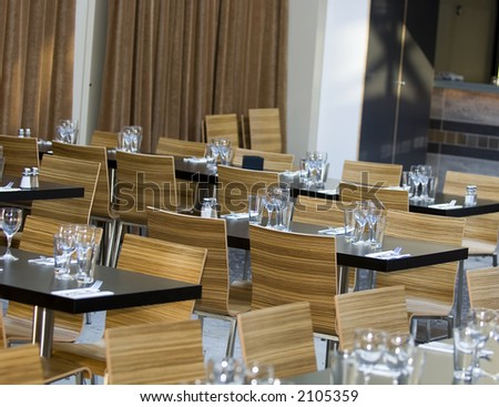 An empty restaurant waiting for the customers