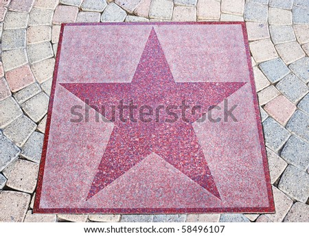 An empty star from the Walk of Stars in Palm Springs, California.