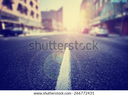 an empty street scene during...