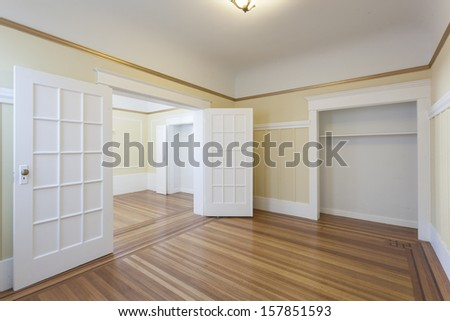 An empty studio apartment