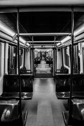 An empty subway