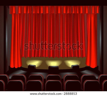 an empty theatre stage for you to place what you like on. Raster version