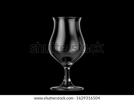 An empty tulip shaped beer glass an isolated dark background - 3D renders Stock photo ©