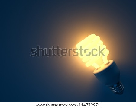 an energy saving light bulb - stock photo
