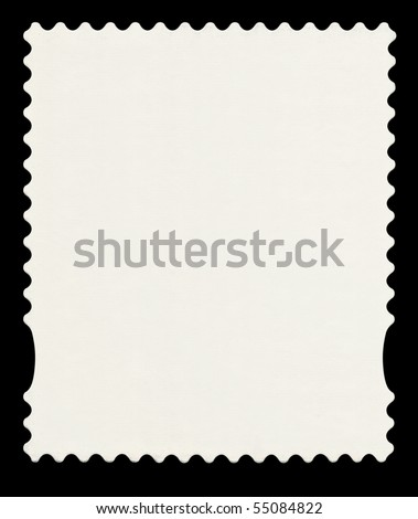 An English First Class Postage Stamp shape isolated. Include clipping path.