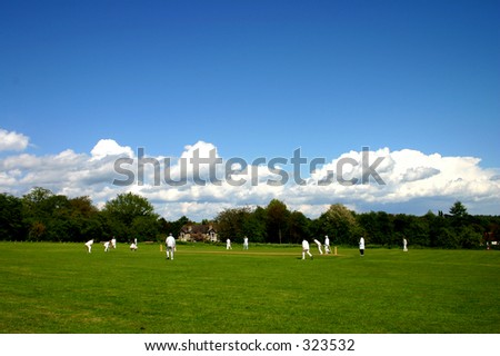 An English village cricket match
