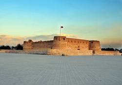 An evening view of Bahrain's Arad Fort.