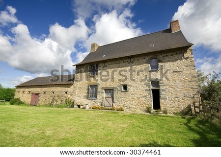 An example of a 16th century French stone house in Northern France.