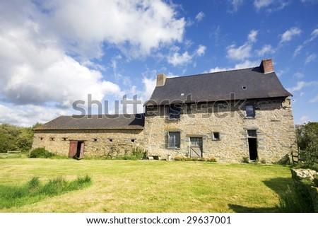 An example of a 16th century French stone house in Northern France. Property release can be made available if required.