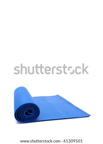 An exercise mat isolated against a white background