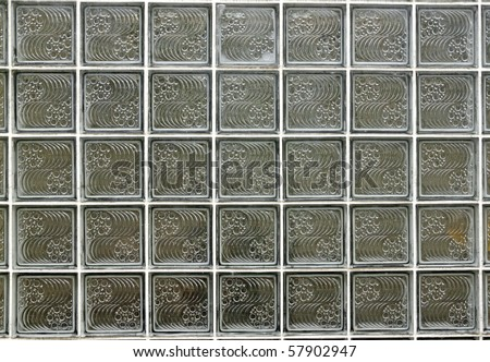 Decorative Block Wall an exotic decorative glass block wall for textural background