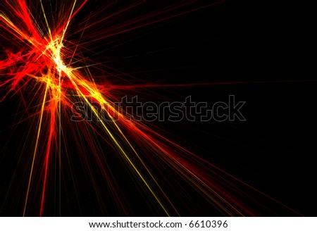 an exploding background, really vibrant colors