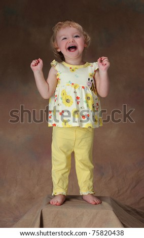 An Exuberant Little Girl