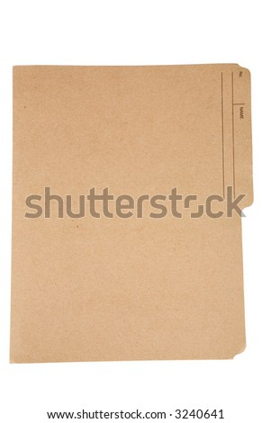 an file folder with white background