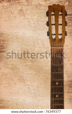 An guitars headstock including tuning pegs