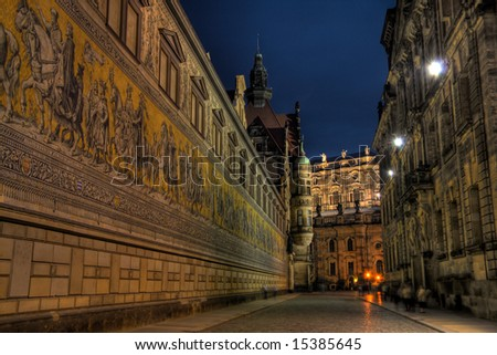 An HDR image of the Dresden Procession of Rulers