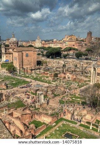 An HDR image of the Rome Forum