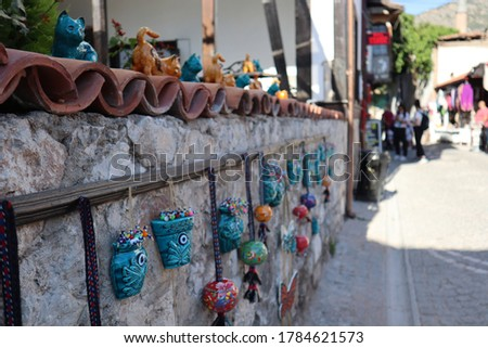 an historical street in turkey Stok fotoğraf ©