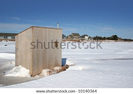 King Crow - Fish House, Ice Fishing, Kingston, Minnesota
