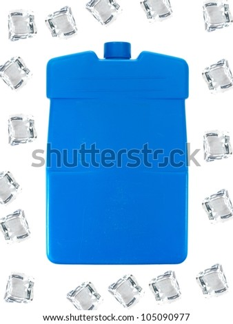 An ice pack isolated against a white background