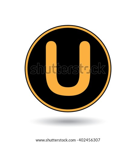 An Icon Illustration Isolated on a Background - U