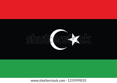 An Illustrated Drawing of the flag of Libya