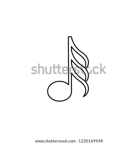 An Illustrated Icon Isolated on a Background - Demi Semi Quaver