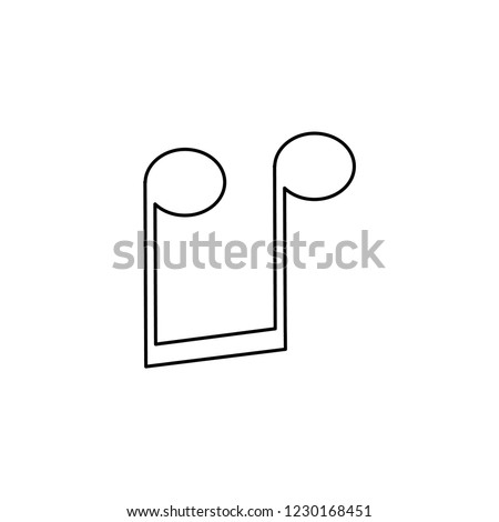 An Illustrated Icon Isolated on a Background - Upside Down Quavers