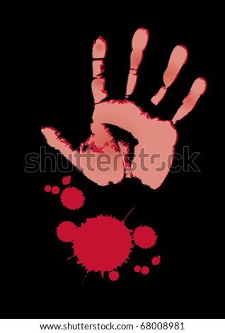 blood splatter black background. a lood splatter set on