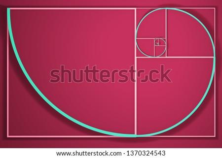 An illustration of a Fibonacci spiral diagram
