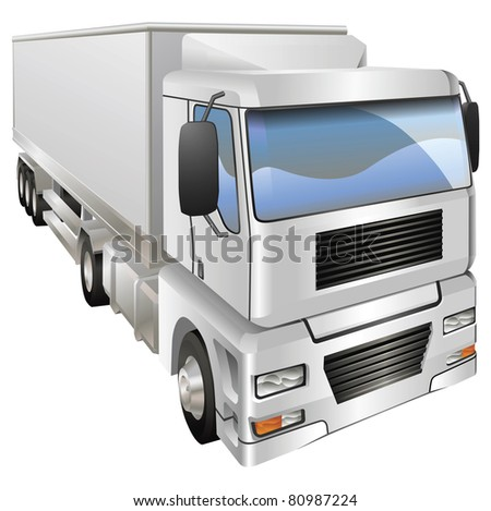 An illustration of a haulage truck or lorry
