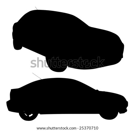 An illustration of a new sedan style car isolated on a white background with clipping path.