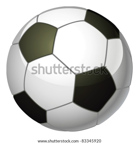 An illustration of a traditional black and white soccer foot ball