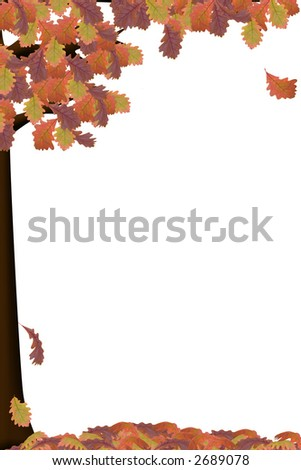an illustration of a tree in autumn colors