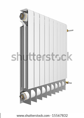 An illustration of a white heater #15567832