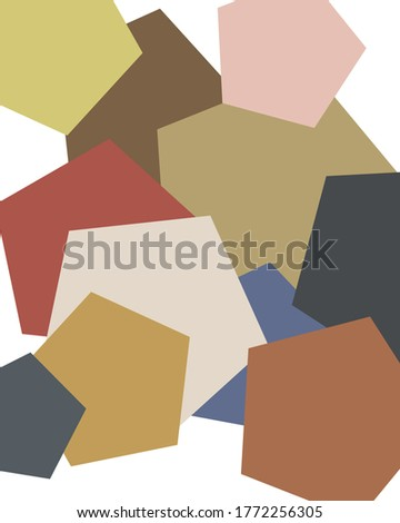 An illustration of abstract shapes in colors inspired by Renoir paintings.
