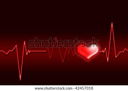 An illustration of an electrocardiogram (ECG).Clip art.