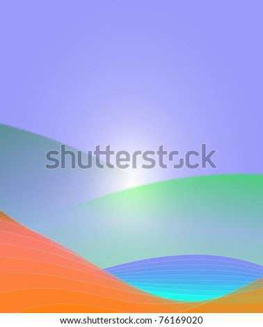 An illustration of colorful abstract background