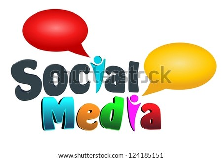 An illustration of colorful social media icon.