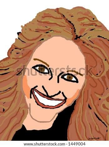 Stock Photo An illustration of Julia Roberts.