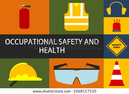 an illustration of occupational safety and health (osha) sign.