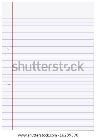 A4 lined paper