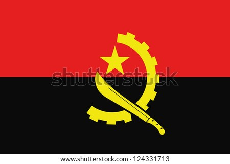 An illustration of the flag of Angola