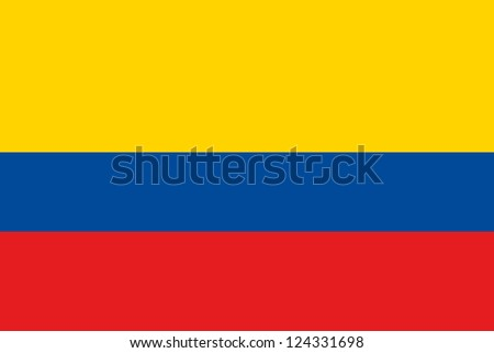 An illustration of the flag of Colombia Stock photo ©