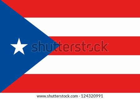 An illustration of the flag of Peurto Rico